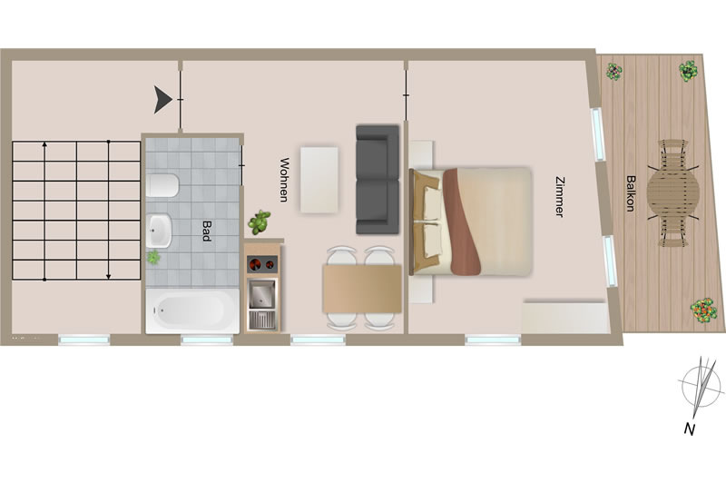Chalet Alpine Lodge - plan de sol